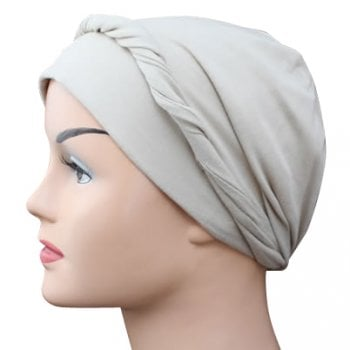 Tan Lightweight 100% Cotton Jersey Tie Scarf