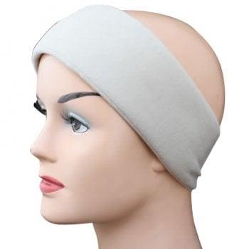 Tan Wide Padded Headband With Velcro
