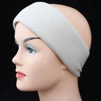 Tan Wide Padded Headband With Velcro