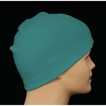 Teal 100% Cotton Jersey Head Cap