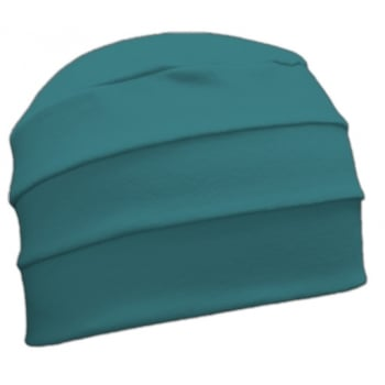 Teal 3 Seam Hat/Turban In 100% Cotton Jersey