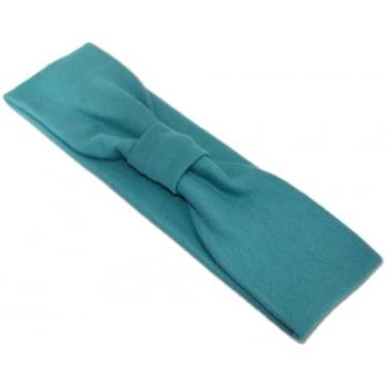 Teal Cosy Headband 100% Cotton Jersey