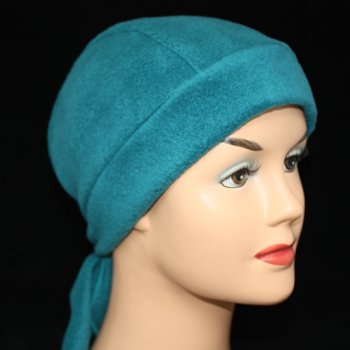 Teal Fleece Hi-Fashion Tie Bandana