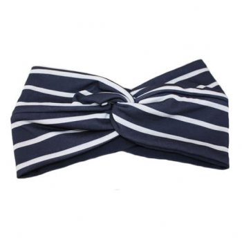 Thick Stripes Navy And White Twist Wrap