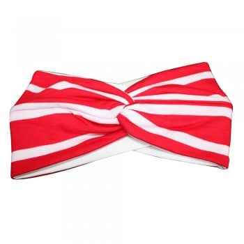 Thick Stripes Red And White Twist Wrap