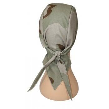 Tri Colour Desert Camouflage Large Tie Bandana