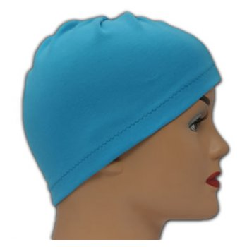 Turquoise 100% Cotton Jersey Head Cap