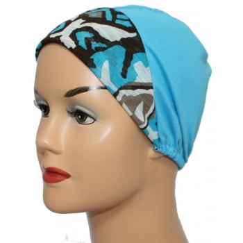 Turquoise And Browns With Turquoise Light Jersey Cap