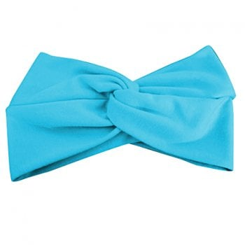 Turquoise Cotton Jersey Twist Wrap