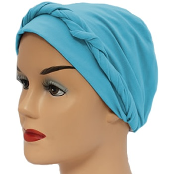 Turquoise Lightweight 100% Cotton Jersey Tie Scarf
