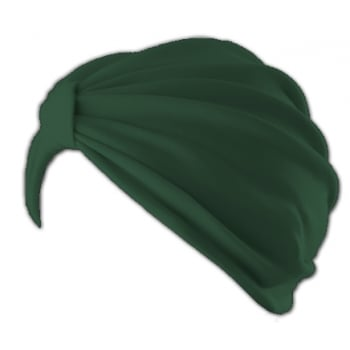 Vicky Pleated Turban Green 100% Cotton Jersey