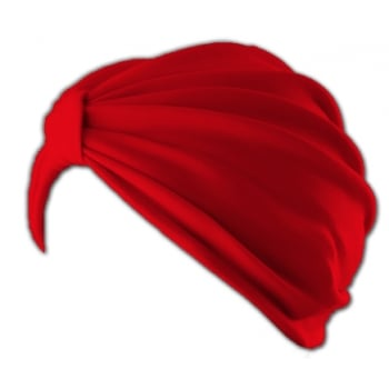 Vicky Pleated Turban Red 100% Cotton Jersey