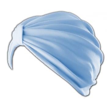 Vicky Pleated Turban (Sky) Light Blue 100% Cotton Jersey