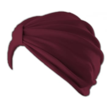 Vicky Pleated Turban Vino Red 100% Cotton Jersey