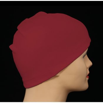 Vino Red 100% Cotton Jersey Head Cap