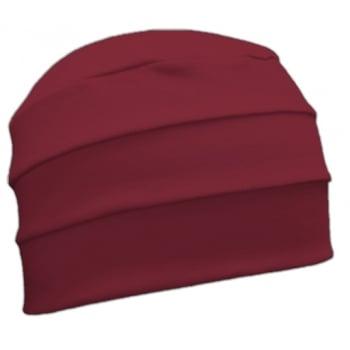 Vino Red 3 Seam Hat/Turban In 100% Cotton Jersey