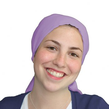 Violet Padded Cotton Head Tie Scarf