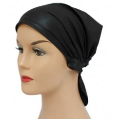 Waterproof Petite Easy Tie Bandana In Black