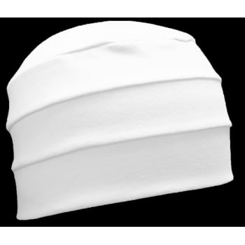 White 3 Seam Hat/Turban In 100% Cotton Jersey