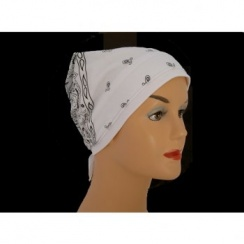 White Jersey Cap Bandana 100% Cotton