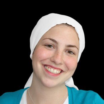 White Padded Cotton Head Tie Scarf