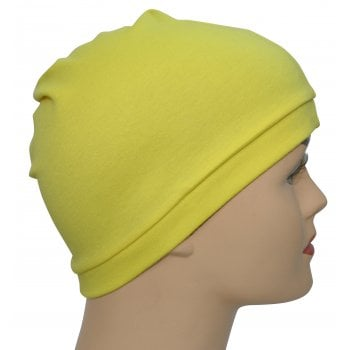 Yellow 100% Cotton Jersey Head Cap