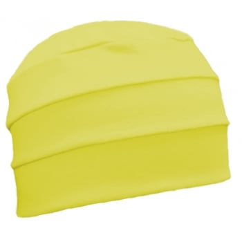 Yellow 3 Seam Hat/Turban In 100%  Cotton Jersey