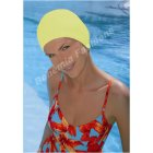 Yellow Bubble Crepe Non Pull Swim Cap